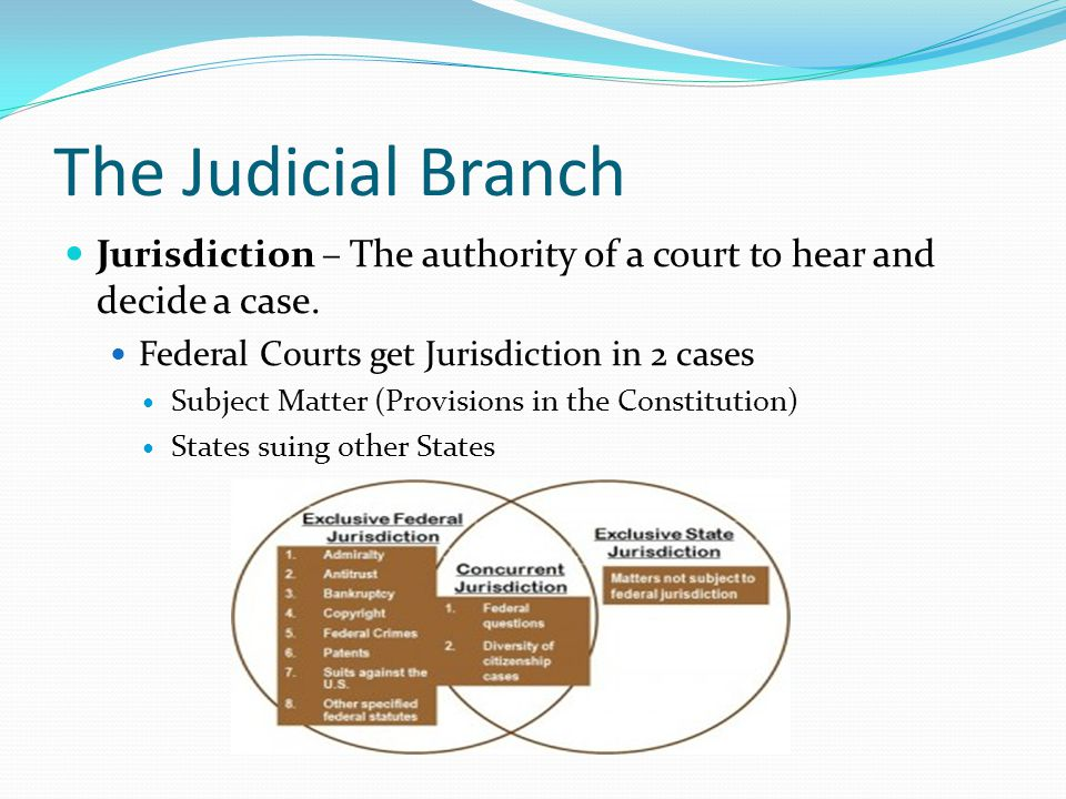subject matter jurisdiction essay Subject matter jurisdiction (smj) - after we have personal j, what court can we go to with our question a smj in state courts - state cts have general smj (can hear.