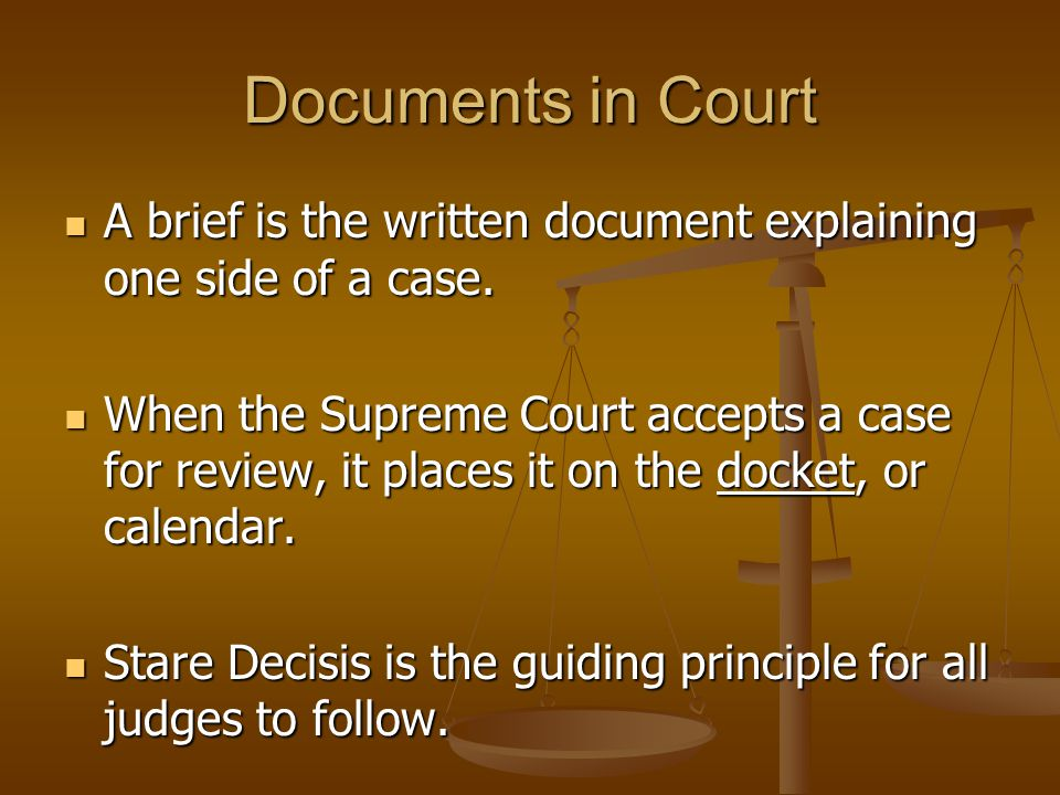Opinions in Court An opinion offers a detailed explanation of the legal thinking behind a court's decision.