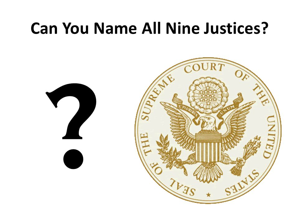 Can You Name All Nine Justices? ?