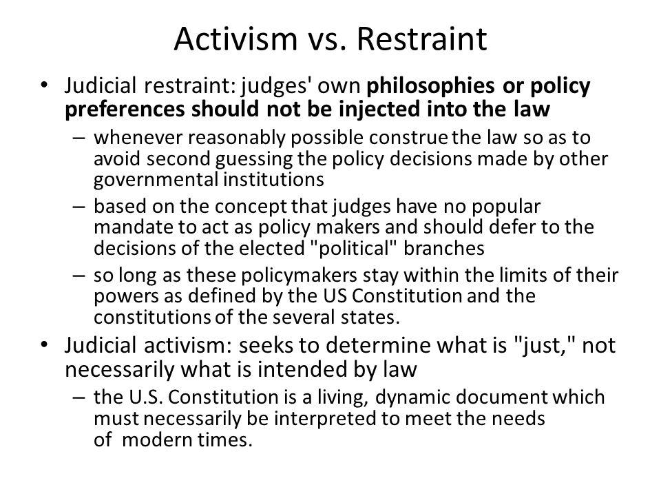 Activism vs.