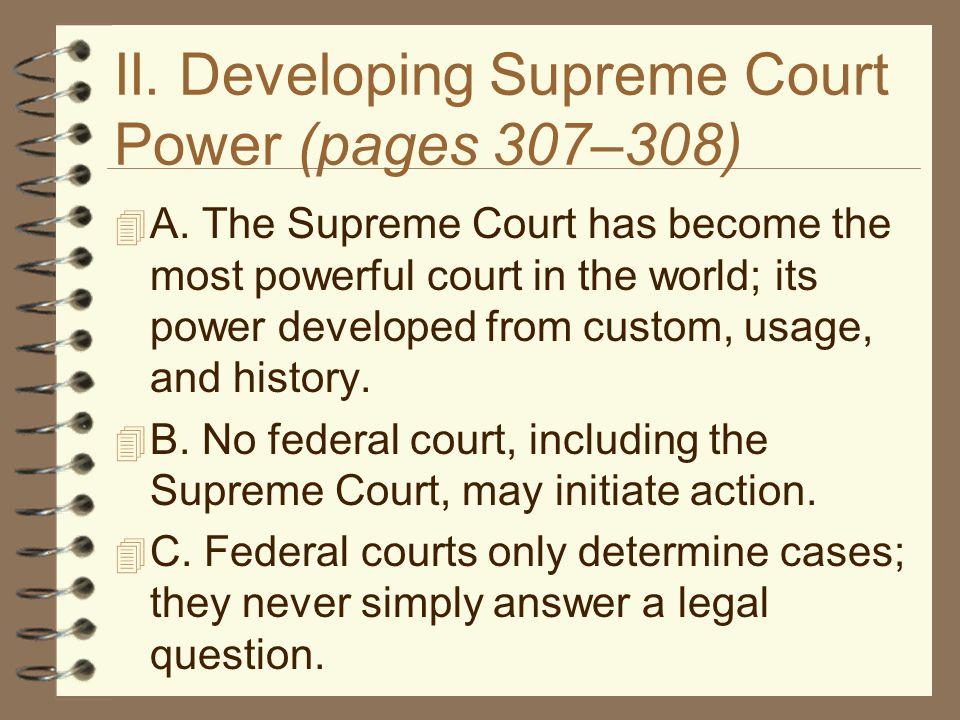 II.Legislative Courts (pages 314–316)  A.