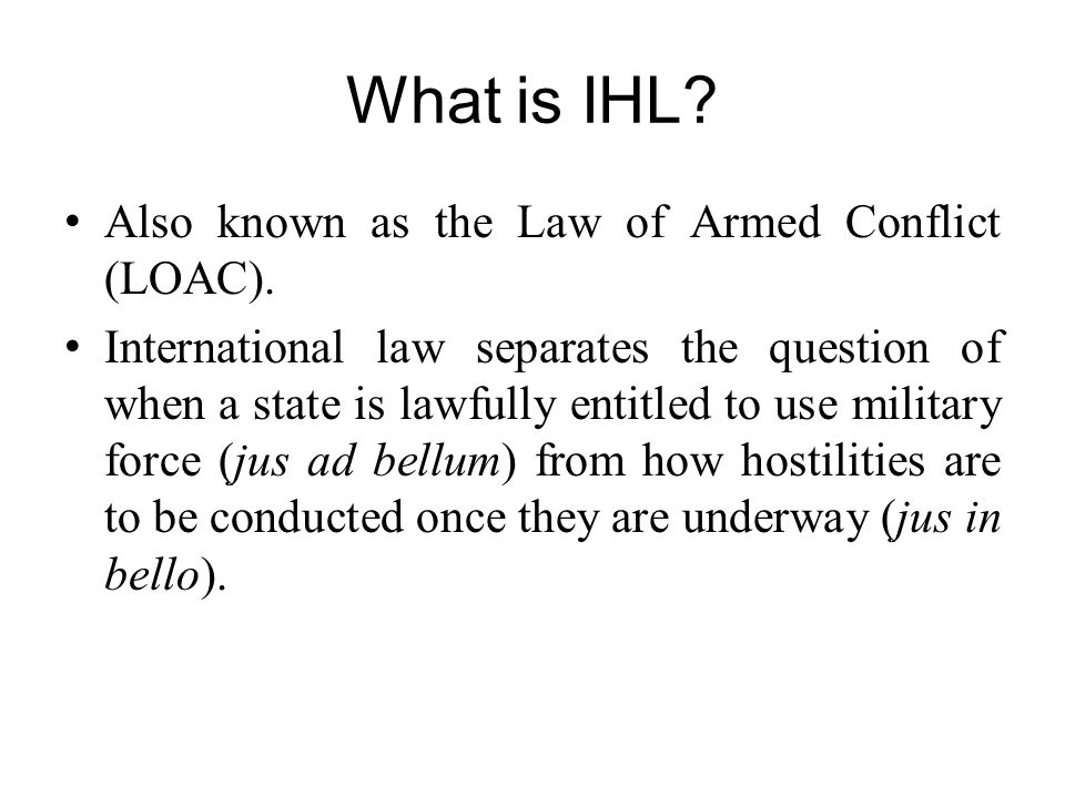 Possible scenarios during armed conflict: Both IHL and IHRL apply in a particular situation and result in the same outcome.