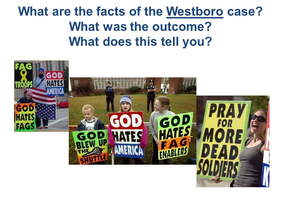 What are the facts of the Westboro case? What was the outcome? What does this tell you?