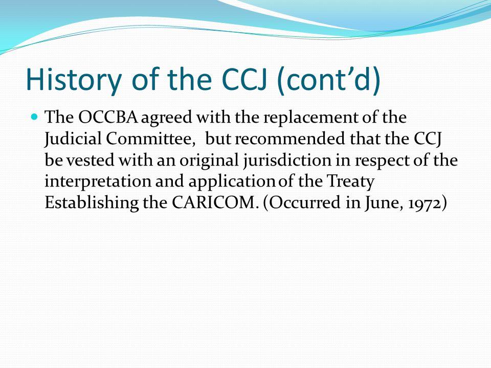 References http://caricom.org/jsp/community/ccj.jsp http://www.caribbeancourtofjustice.org/ http://en.wikipedia.org/wiki/Caribbean_Court_of_Jus tice http://en.wikipedia.org/wiki/Caribbean_Court_of_Jus tice