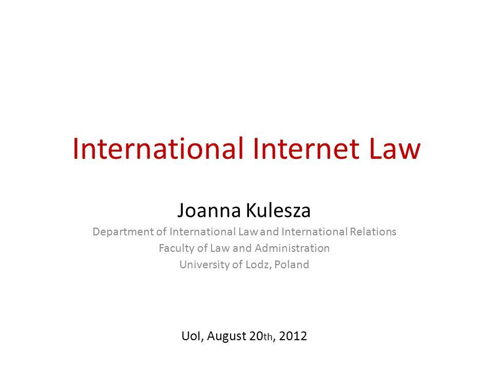scope International Internet Law.