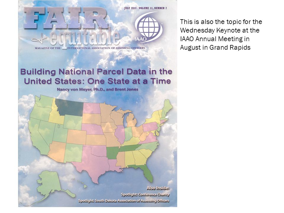 This is also the topic for the Wednesday Keynote at the IAAO Annual Meeting in August in Grand Rapids