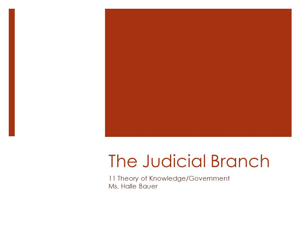 The Role of the Courts  What is the role of the judicial branch of government.