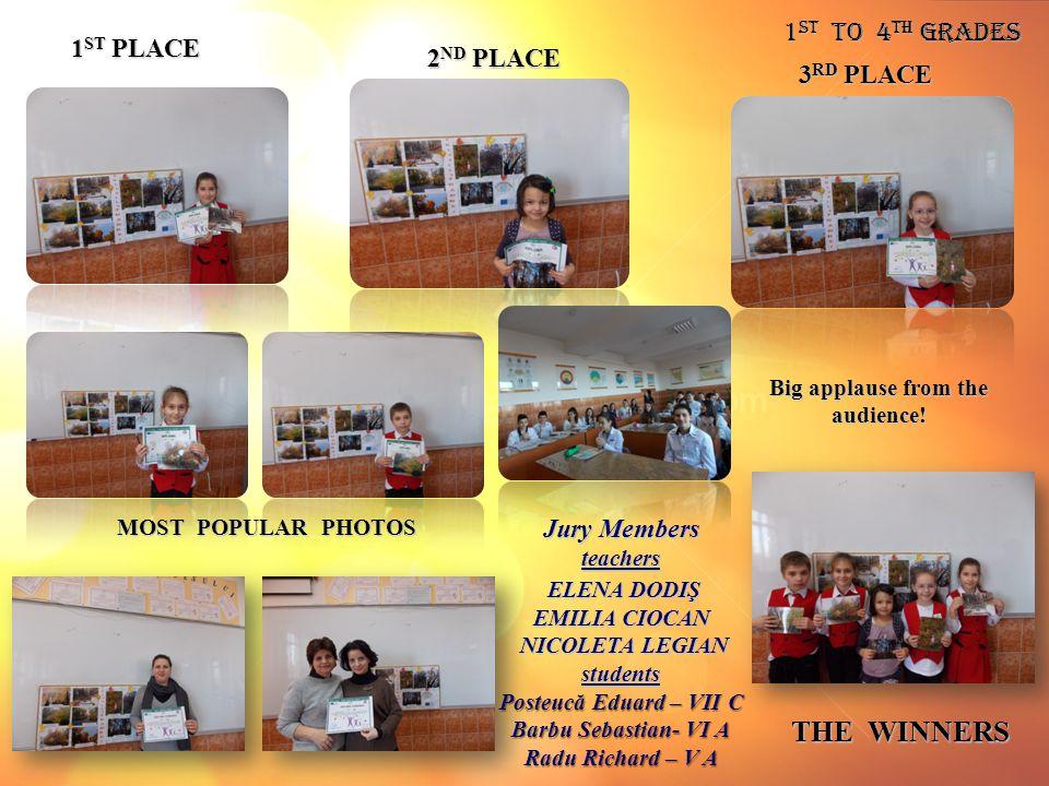 1 st to 4 th Grades 1 ST PLACE 2 ND PLACE THE WINNERS 3 RD PLACE Jury Members teachers ELENA DODIŞ ELENA DODIŞ EMILIA CIOCAN NICOLETA LEGIAN NICOLETA