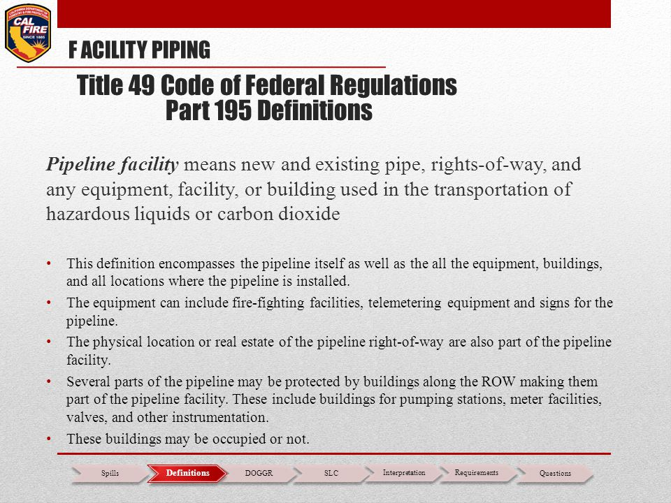 Pipeline facility means new and existing pipe, rights-of-way, and any equipment, facility, or building used in the transportation of hazardous liquids