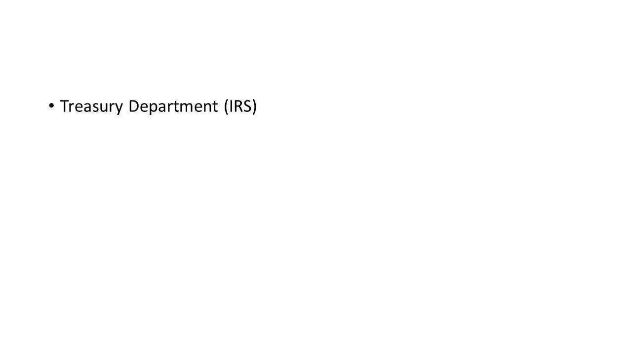 Treasury Department (IRS)