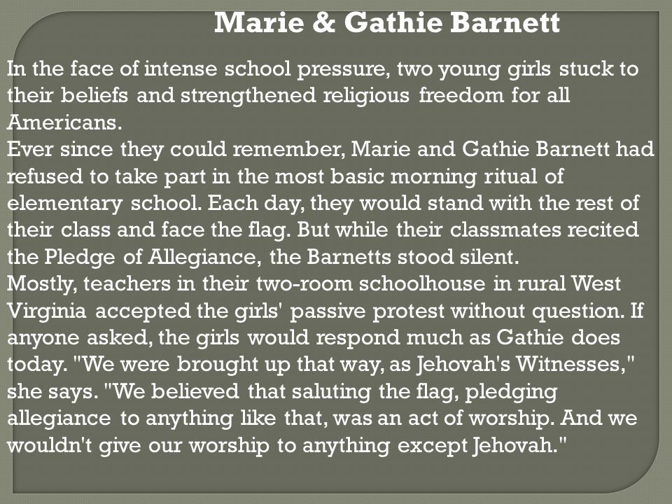 In the face of intense school pressure, two young girls stuck to their beliefs and strengthened religious freedom for all Americans.