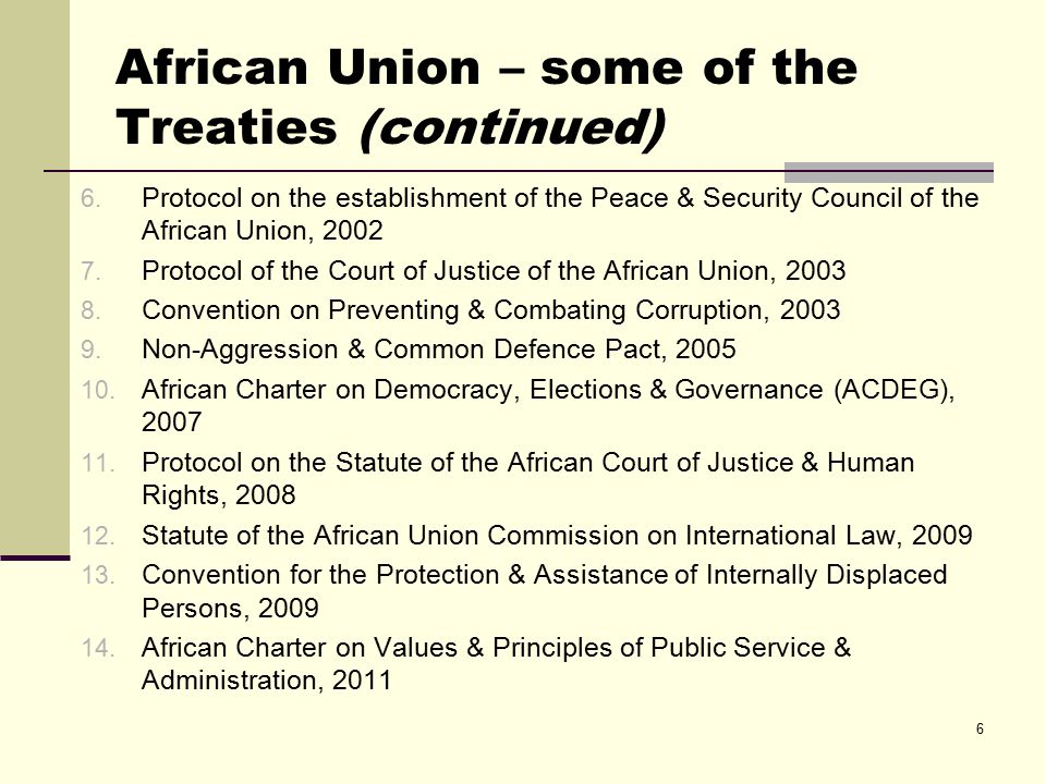Recent AU efforts in combatting impunity African Governance Architecture (AGA) African Human Rights Strategy African Peace & Security Architecture (APSA) Extending the jurisdiction of the African Court, to cover international crimes (Draft) Policy Framework for Transitional Justice in Africa Model law for Universal Jurisdiction 7
