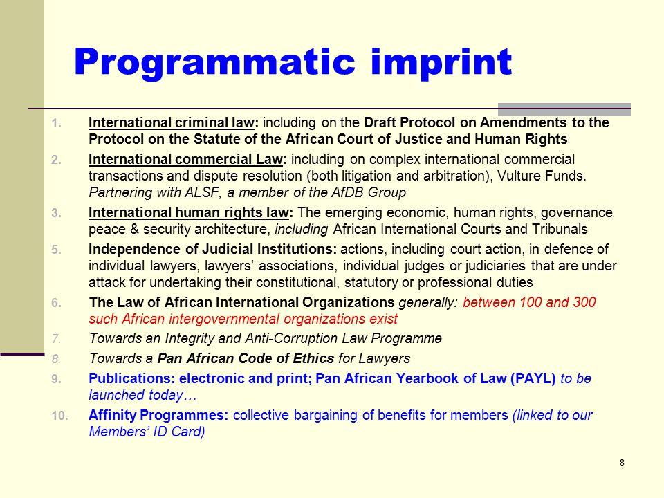PALU programming on: - Economic governance, with natural resource governance as a sub-set - Trade governance Basis 1.