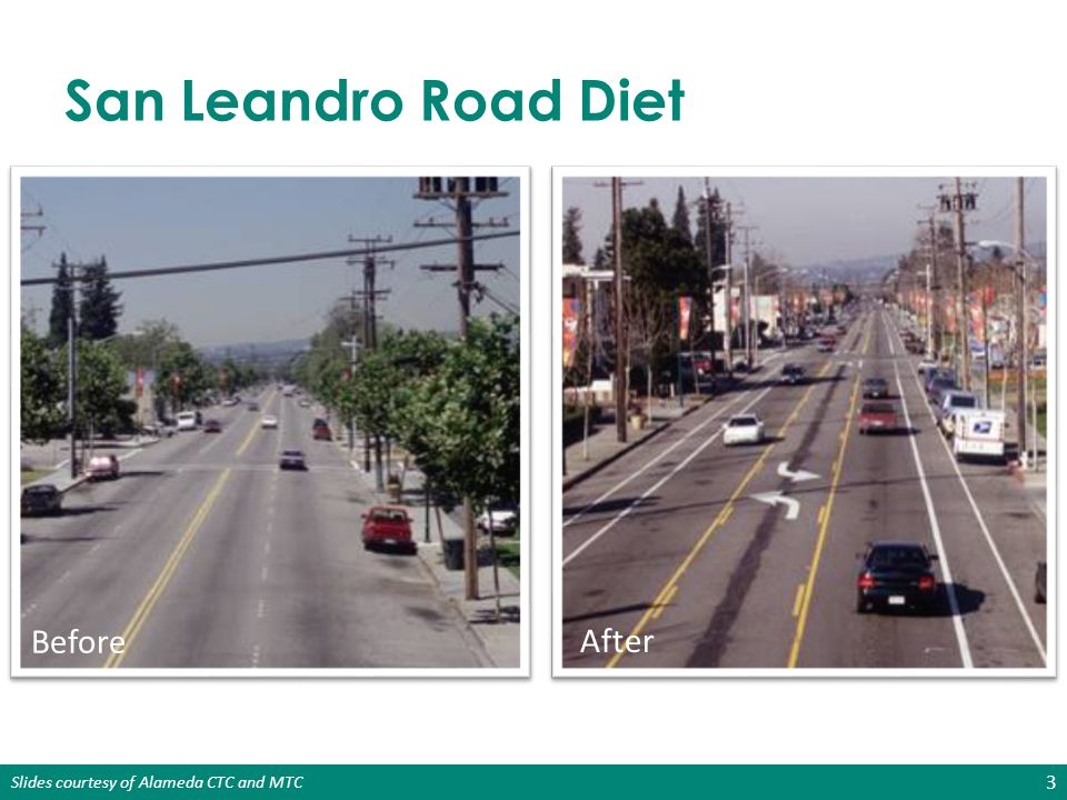 Slides courtesy of Alameda CTC and MTC Complete Streets Serve All Users Pedestrians Bicyclists Transit Users Motorists Goods Movement People with Disabilities People of All Ages & Abilities Emergency Responders 4