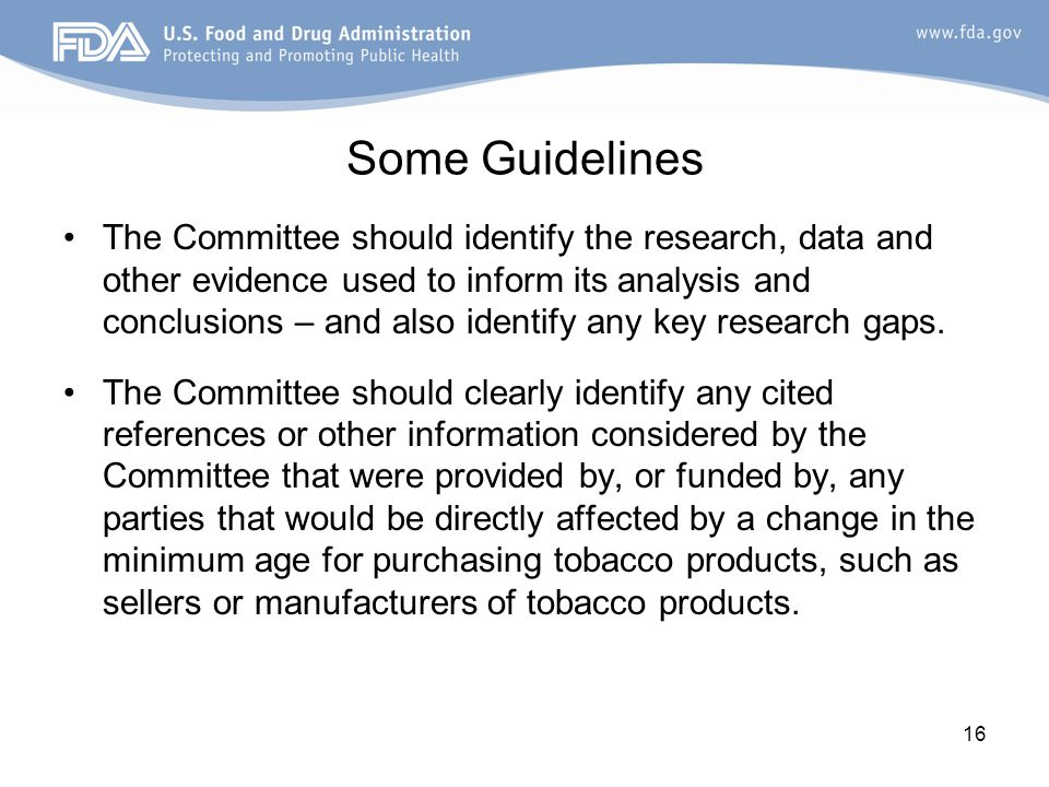 The Committee should identify the research, data and other evidence used to inform its analysis and conclusions – and also identify any key research gaps.