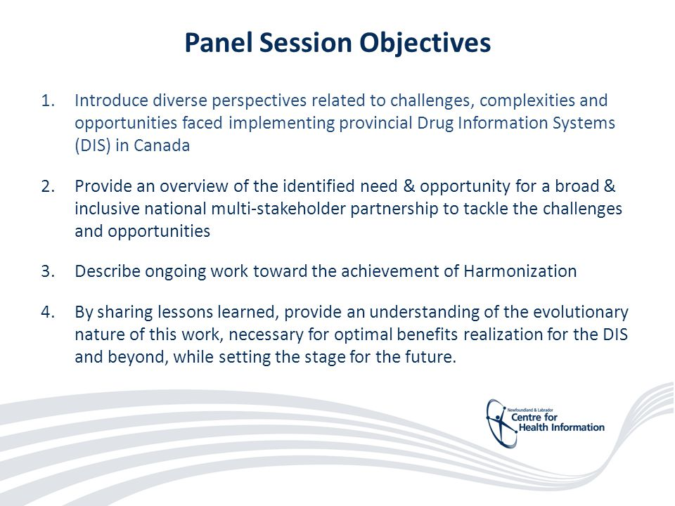 47 Panel Session Objectives 1.Introduce diverse perspectives related to challenges, complexities and opportunities faced implementing provincial Drug