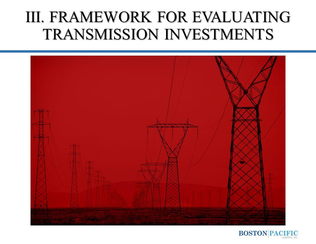 III. FRAMEWORK FOR EVALUATING TRANSMISSION INVESTMENTS