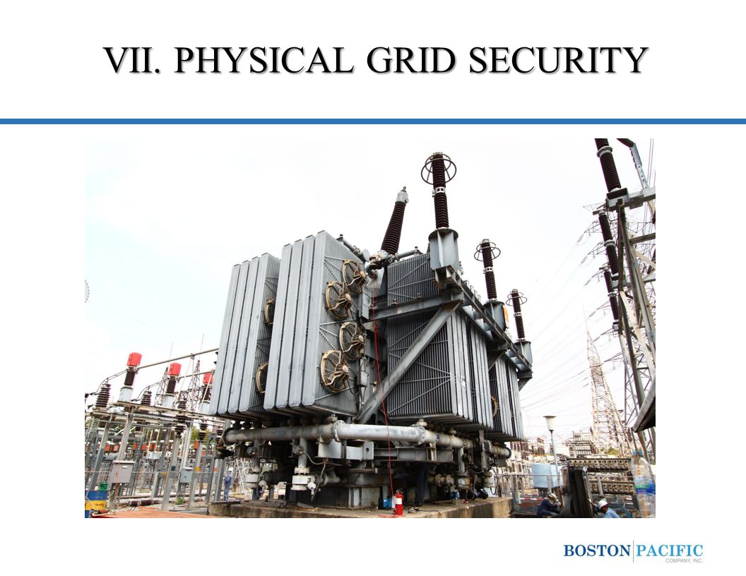 VII. PHYSICAL GRID SECURITY