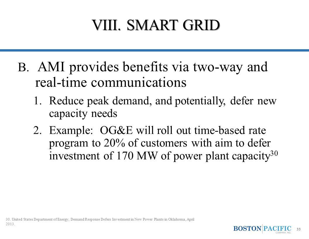 VIII. SMART GRID B.