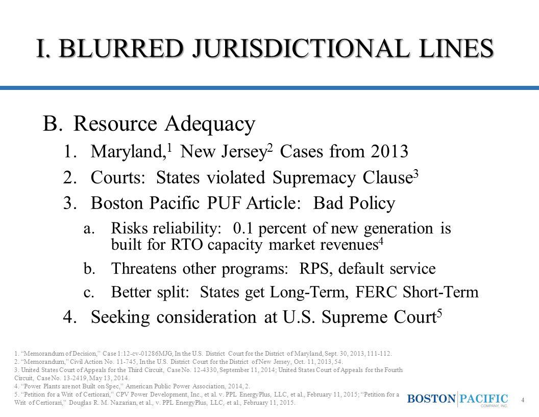 I.BLURRED JURISDICTIONAL LINES C.Demand Response 1.Court vacates FERC Order No.