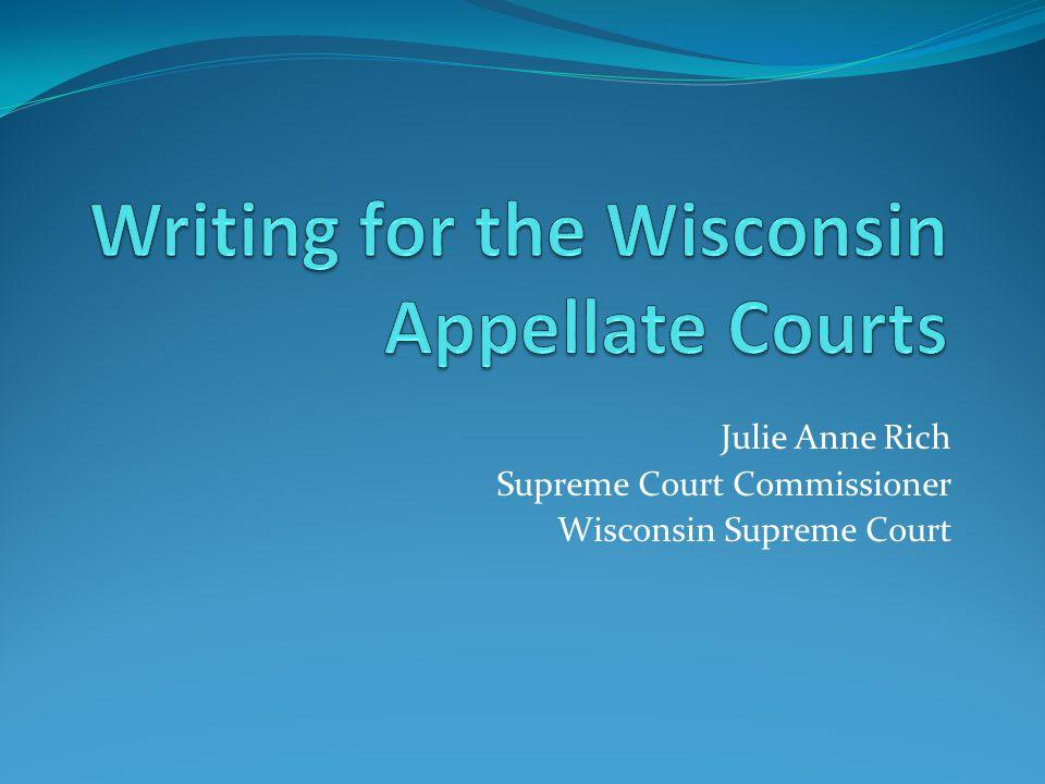 Julie Anne Rich Supreme Court Commissioner Wisconsin Supreme Court