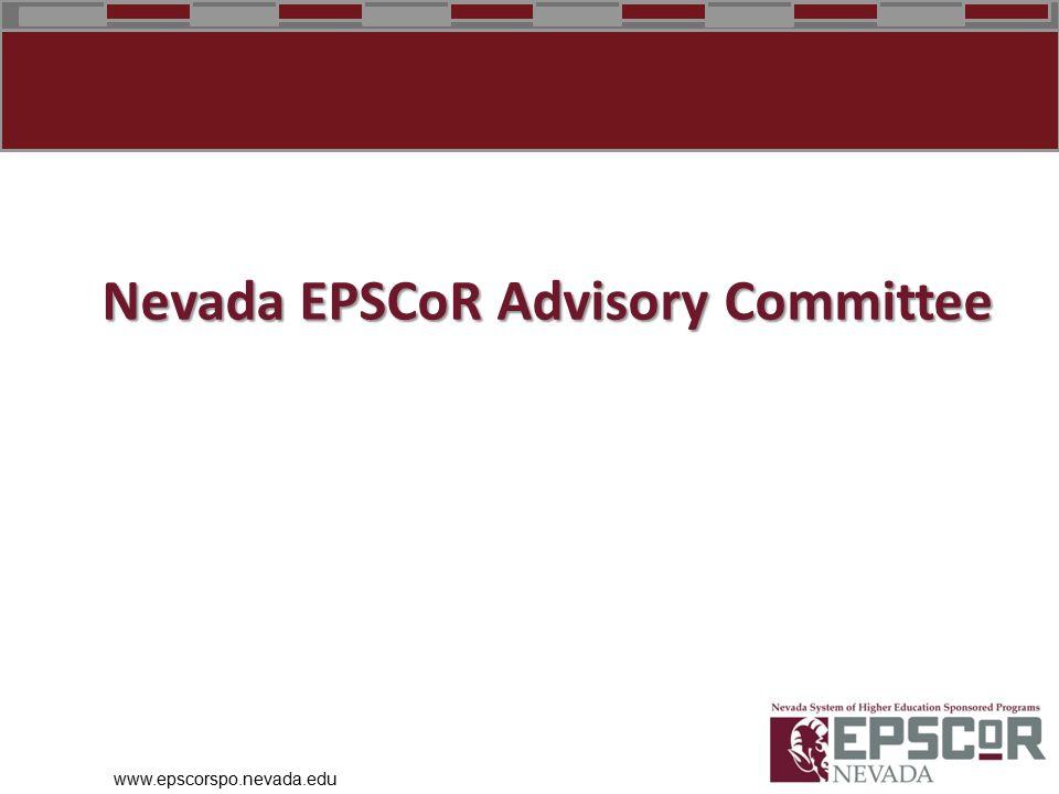 www.epscorspo.nevada.edu Nevada EPSCoR Advisory Committee