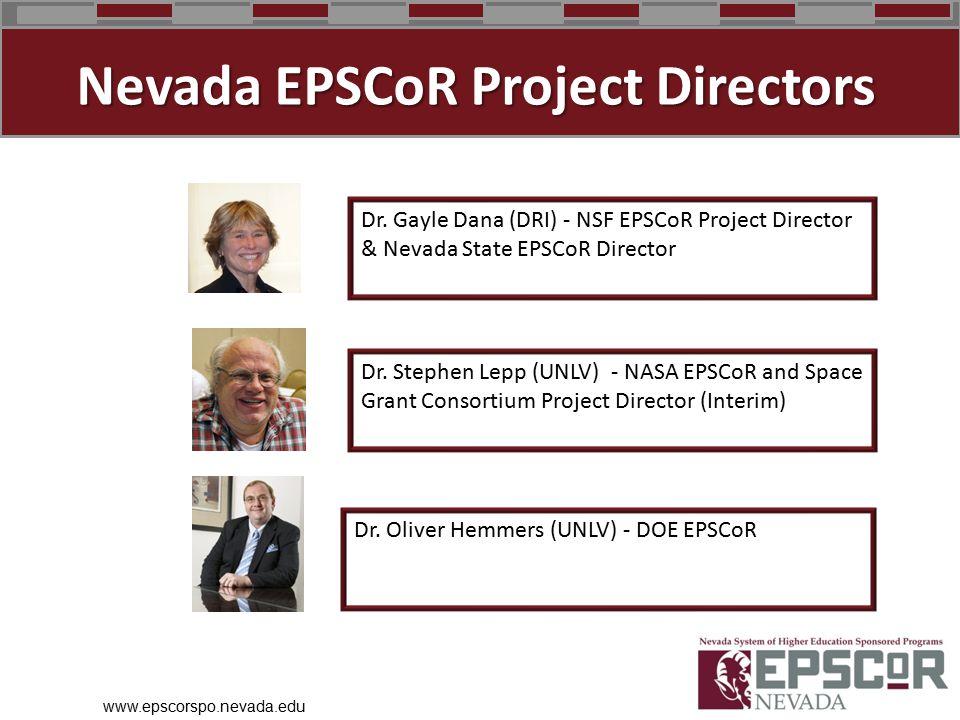 www.epscorspo.nevada.edu Dr.