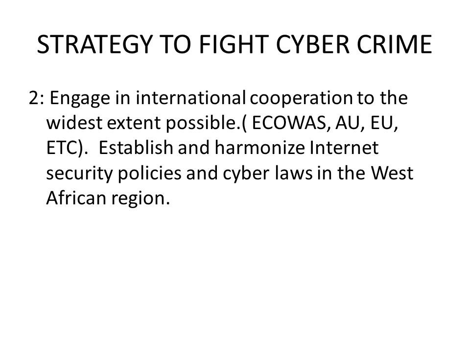 CO-ORDINATION OF LEGAL AND SECURITY STRATEGY