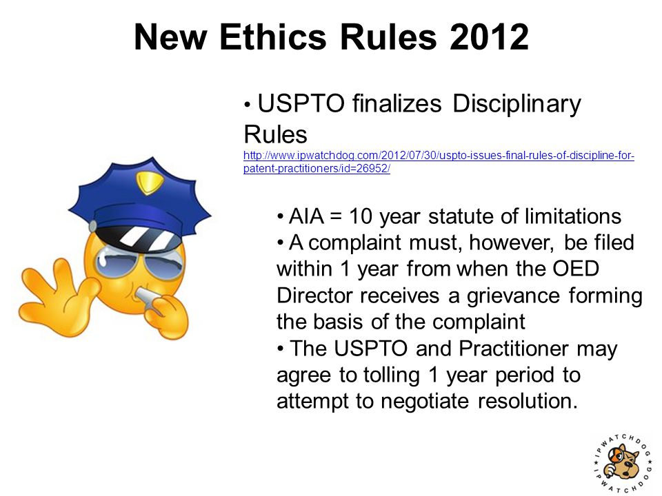 New Ethics Rules 2012.