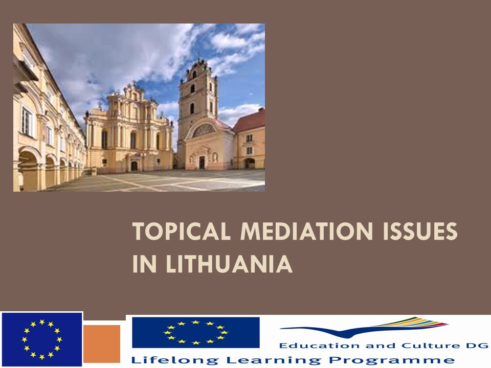 TOPICAL MEDIATION ISSUES IN LITHUANIA