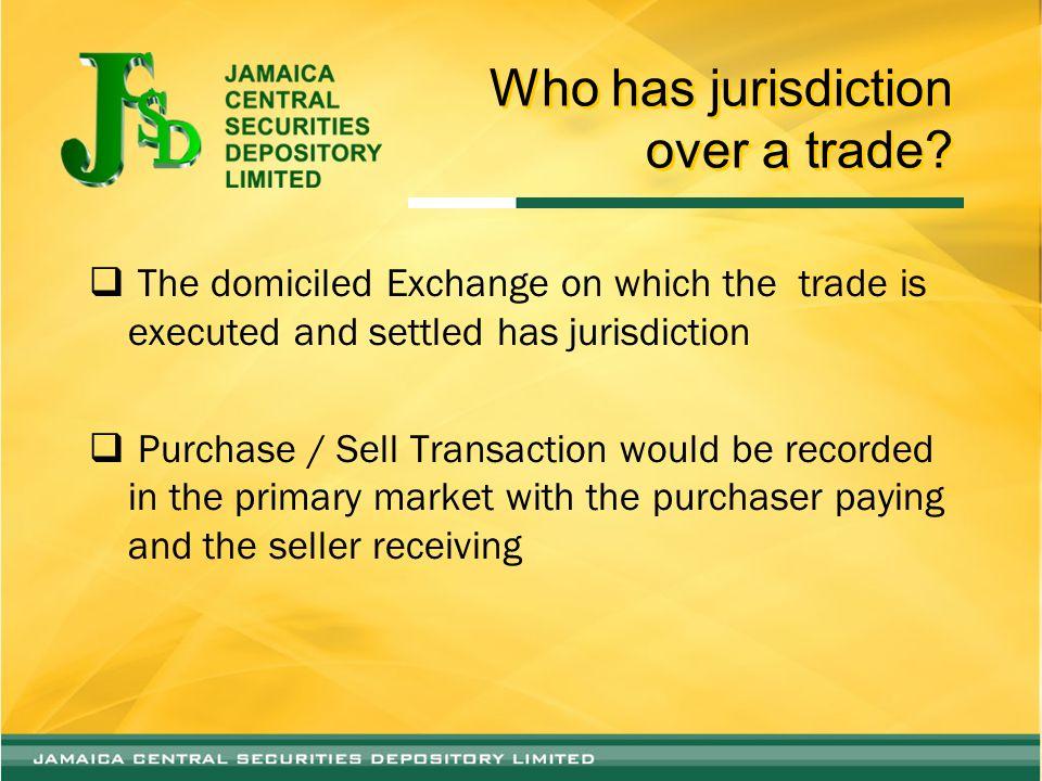 Who has jurisdiction over a trade.