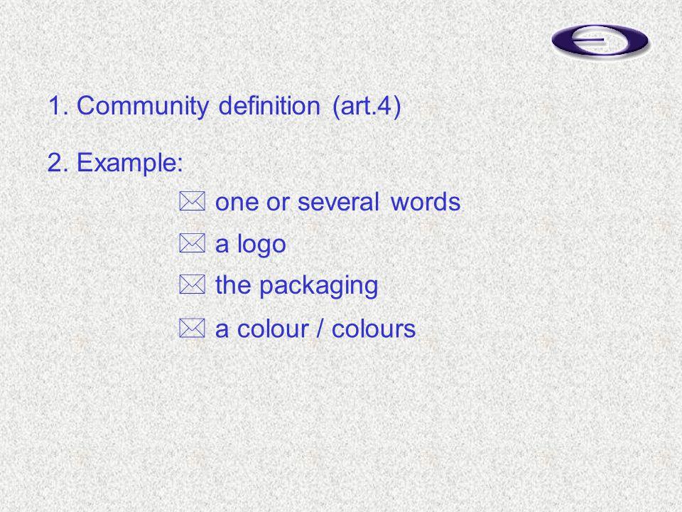 1. Community definition (art.4) 2.