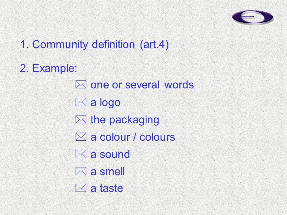  a taste 1. Community definition (art.4) 2.