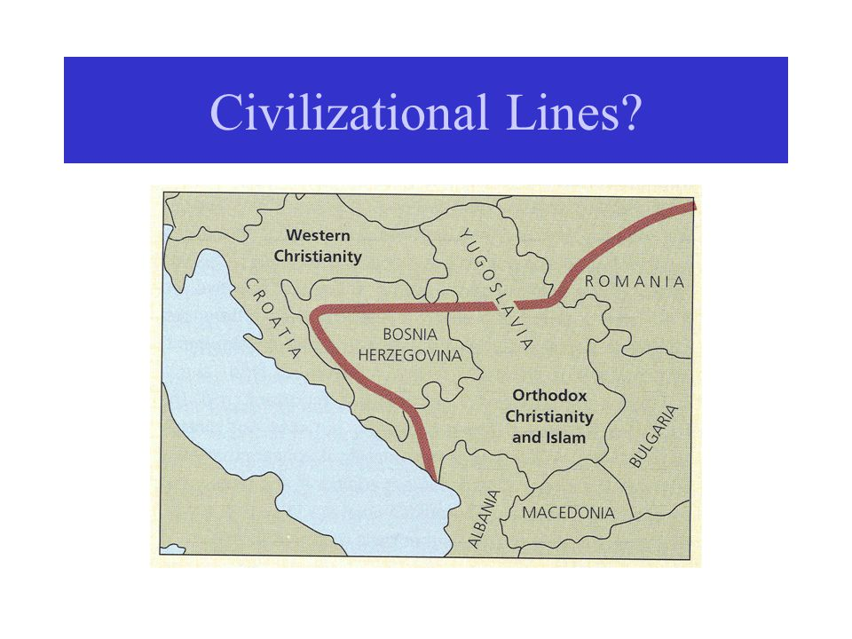 Civilizational Lines?