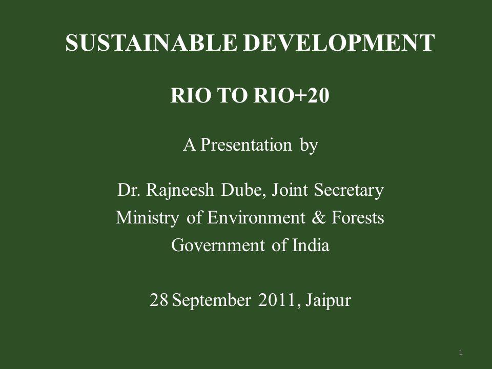 RIO 1992 Environment & Development (UNCED) Rio Principles (27) Agenda 21: Global Partnership for SD UNFCCC and CBD: Opened up for signatures UNCCD was born 2