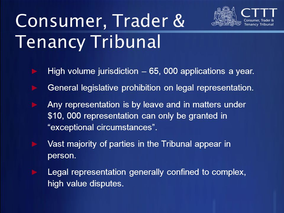 ► High volume jurisdiction – 65, 000 applications a year.