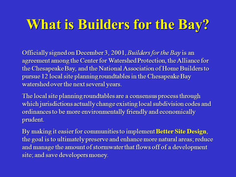 What is Builders for the Bay.