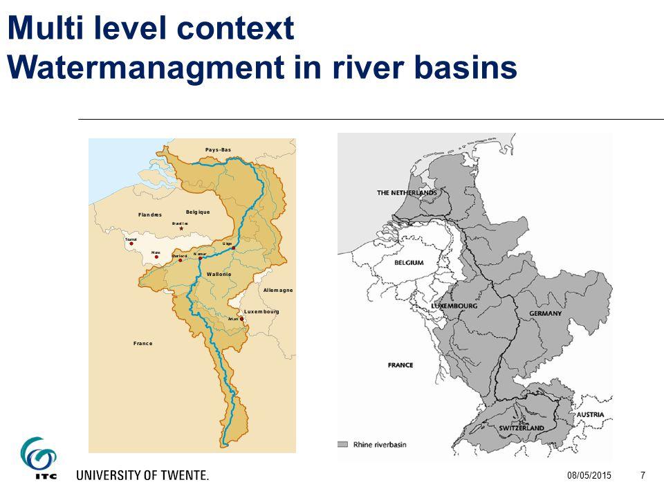 08/05/2015 7 Multi level context Watermanagment in river basins