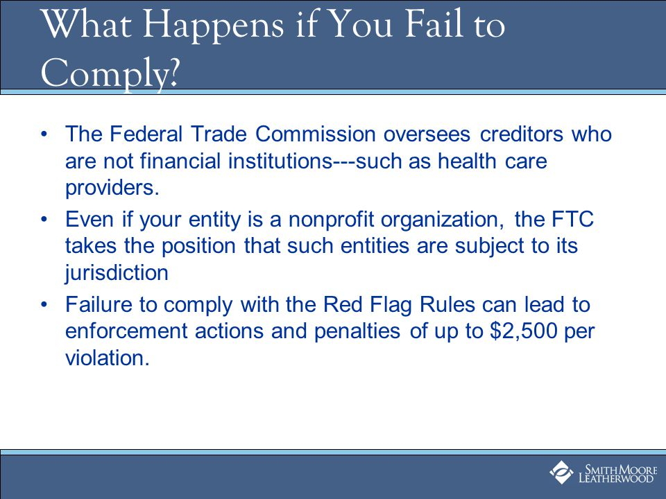 What Happens if You Fail to Comply.