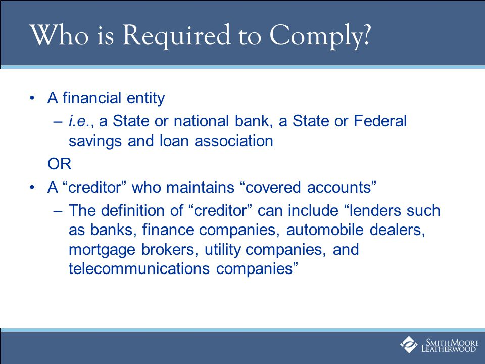 Question 1: Are You a Creditor.What is a creditor.