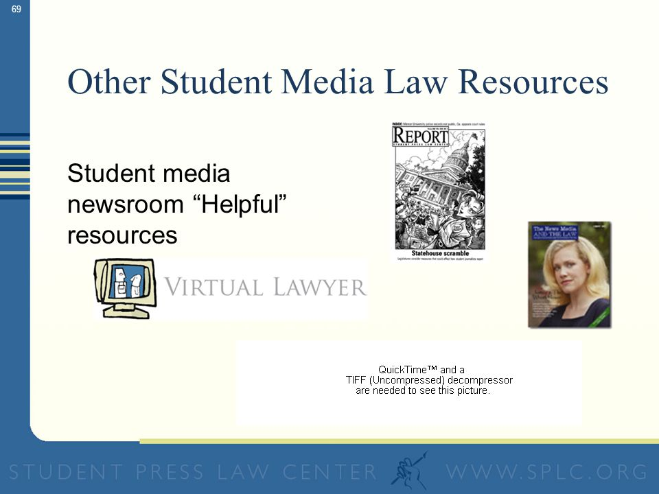 "68 Other Student Media Law Resources Student media newsroom ""Must Have"" resource"