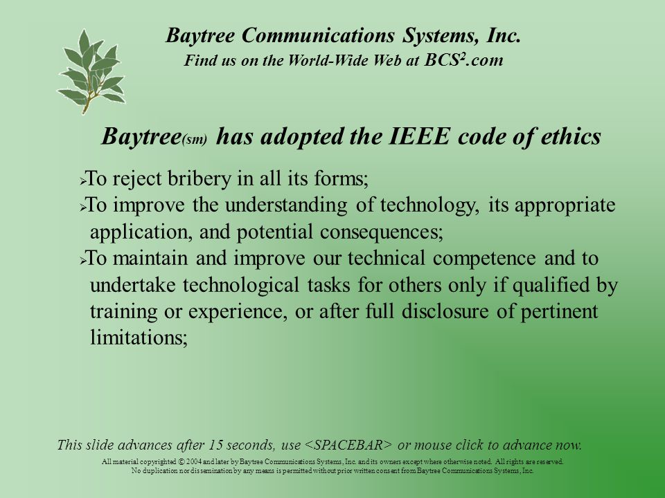 Baytree Communications Systems, Inc.