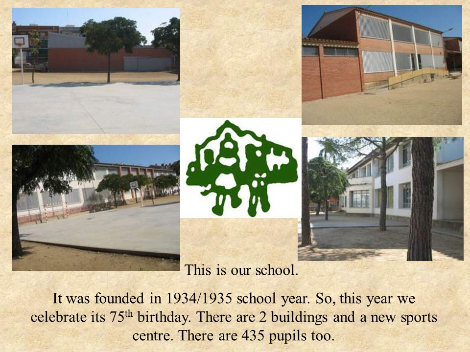 This is our school. It was founded in 1934/1935 school year.