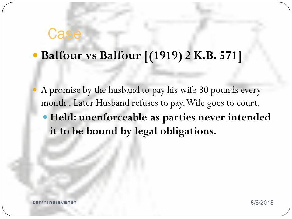 Case 5/8/2015 santhi narayanan 12 Balfour vs Balfour [(1919) 2 K.B.