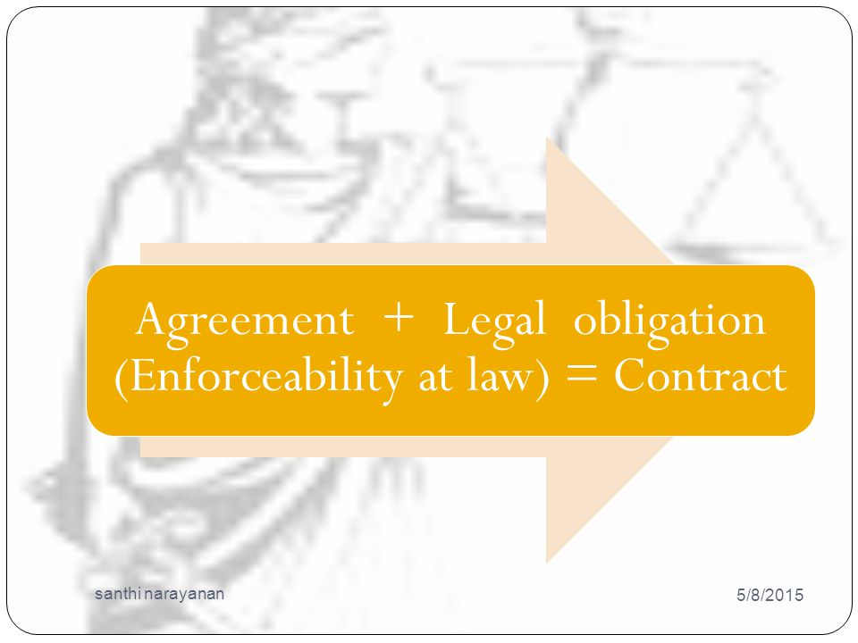 Contract Act 5/8/2015 santhi narayanan 10 All contracts are agreement but all agreements are not contracts .