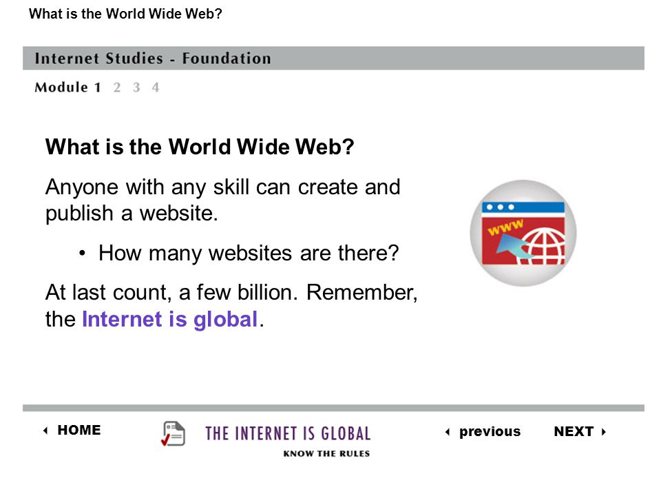 NEXT  previous  HOME What is the World Wide Web.