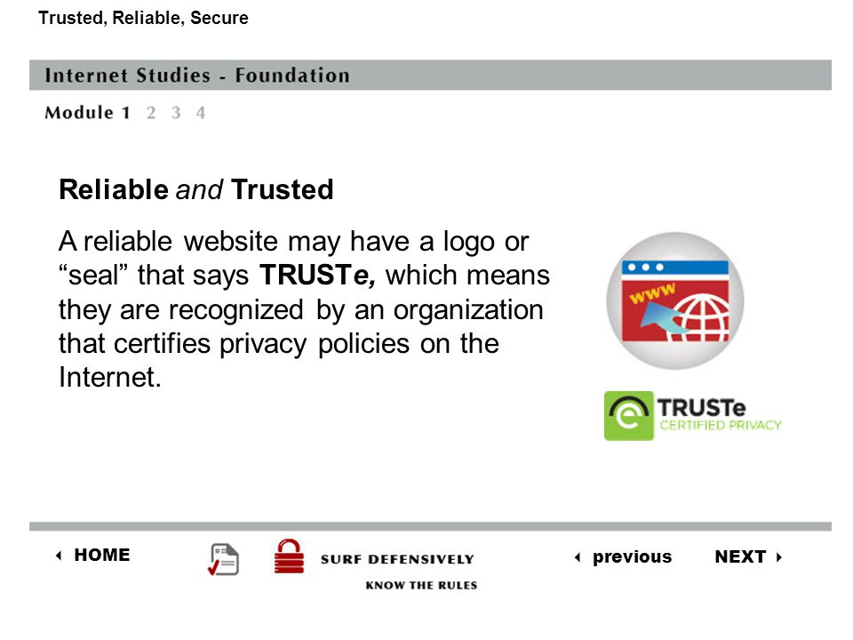 NEXT  previous  HOME Trusted, Reliable, Secure Reliable and Trusted websites: 4.Provide receipts.