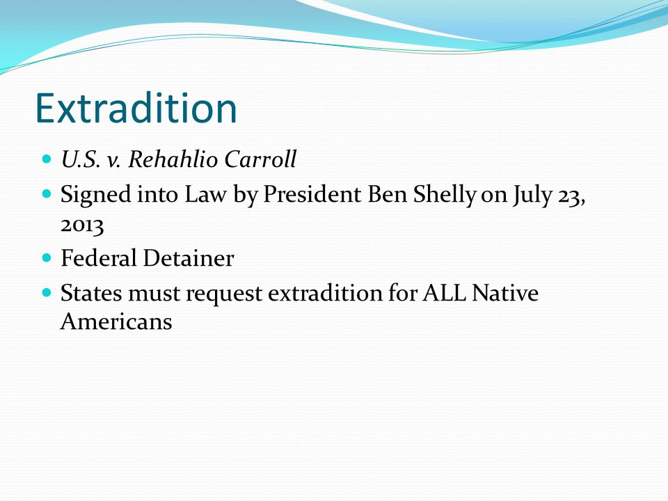 Tribal Law and Order Amendments Passed by Congress July, 2010 Purposes (3) Authorized felony jurisdiction to tribes Allows enhanced sentencing Restrictions under current Navajo Nation law