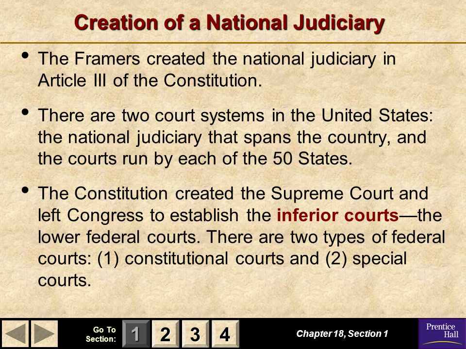 123 Go To Section: 4 Section 3 Review 1.The Supreme Court has which type of jurisdiction.