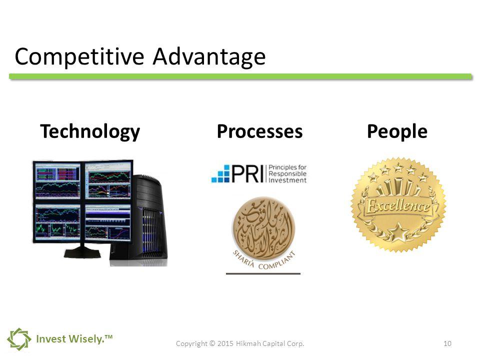 Competitive Advantage 10Copyright © 2015 Hikmah Capital Corp.
